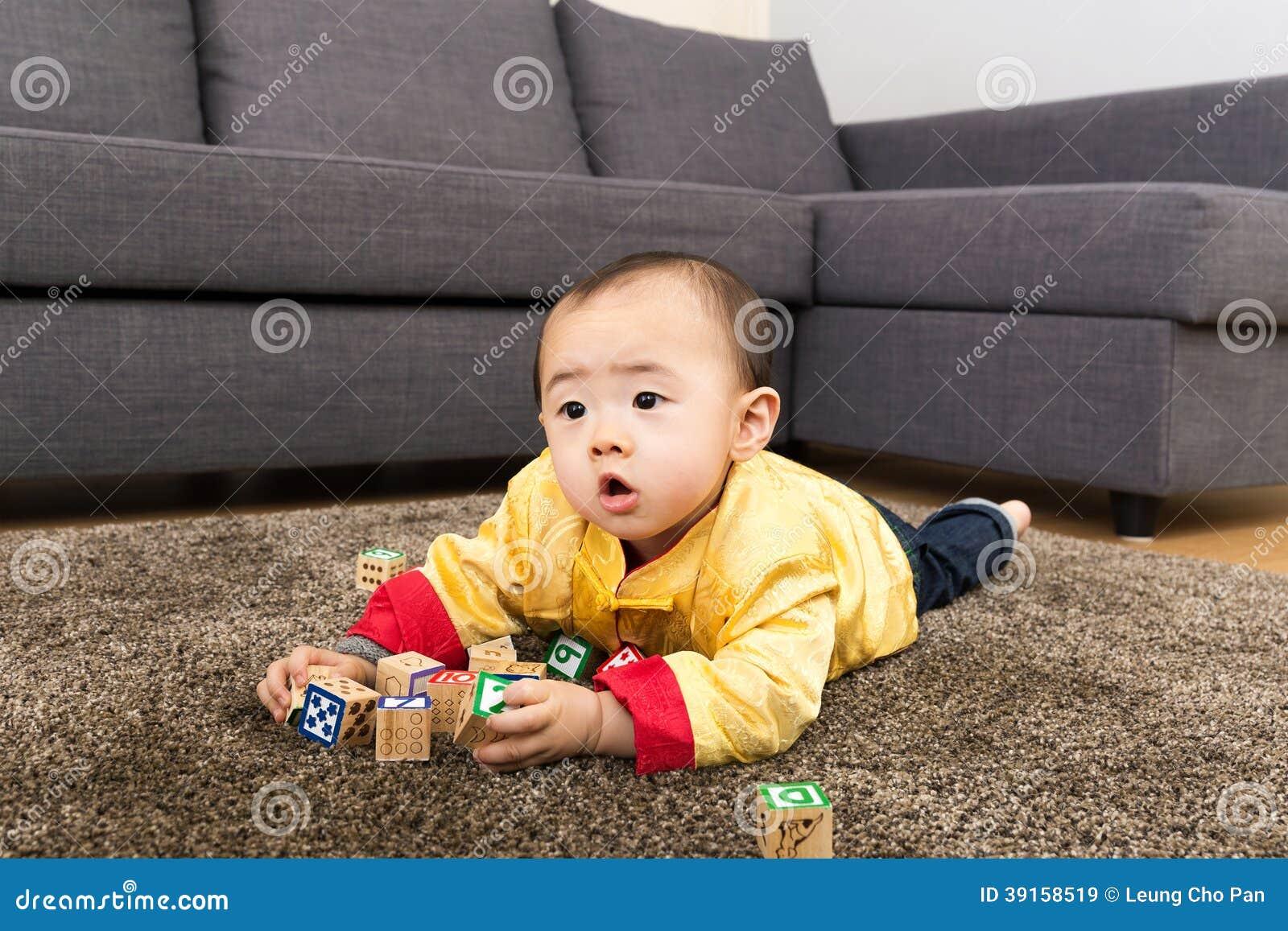 Bloque chino del juguete del juego del bebé