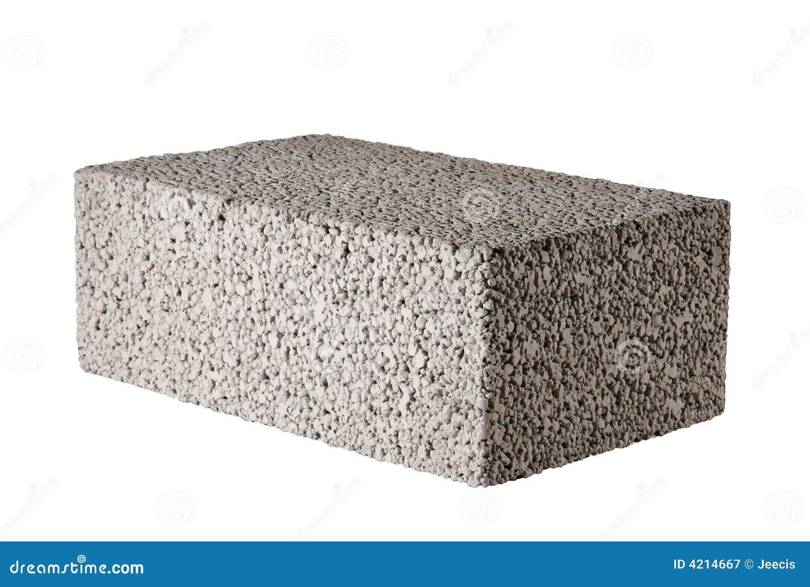 Bloque de cemento imagen de archivo imagen de ladrillo for Bloques cemento para jardin