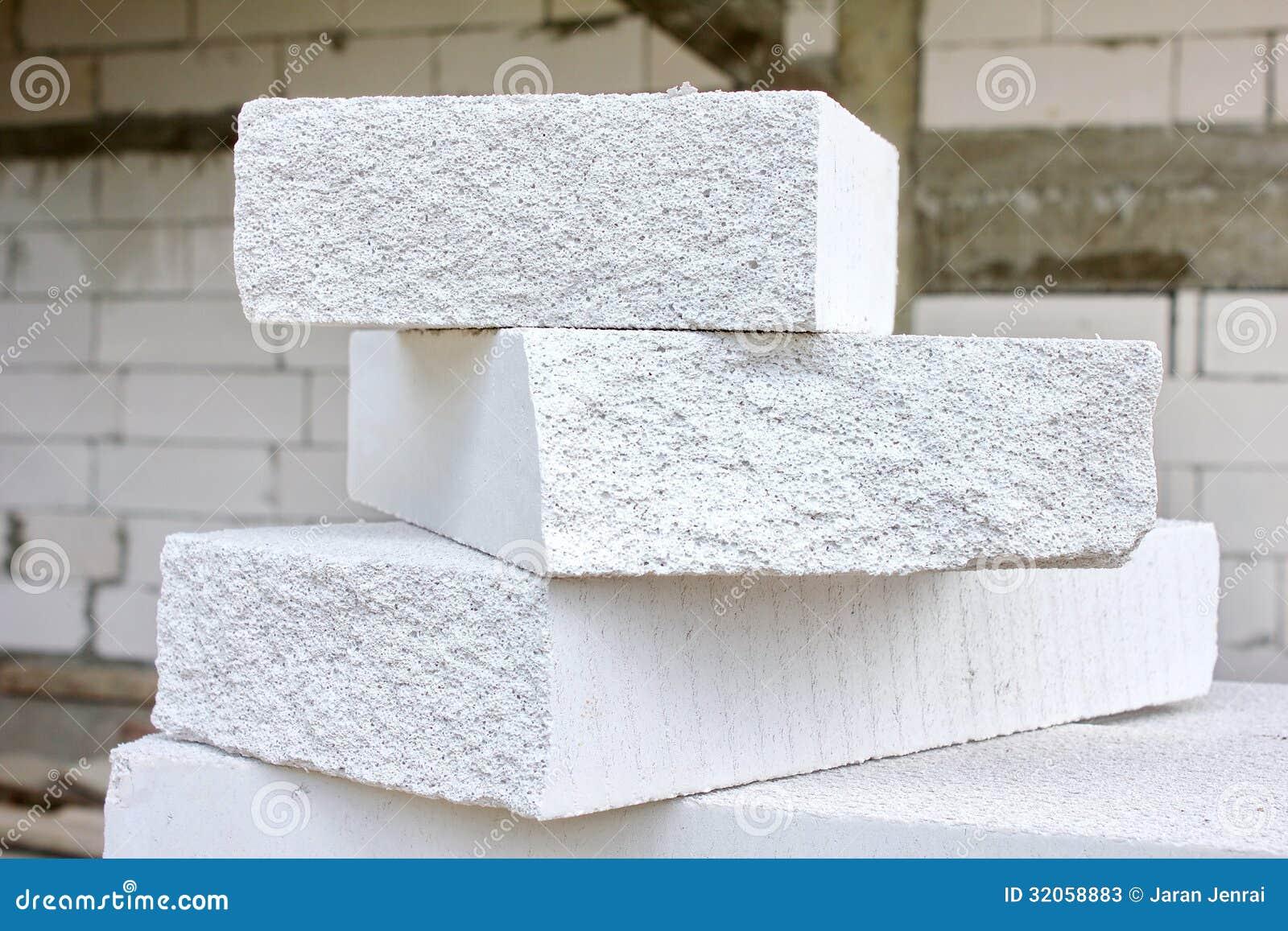 Bloque de cemento ligero imagen de archivo imagen de - Cemento blanco precio ...