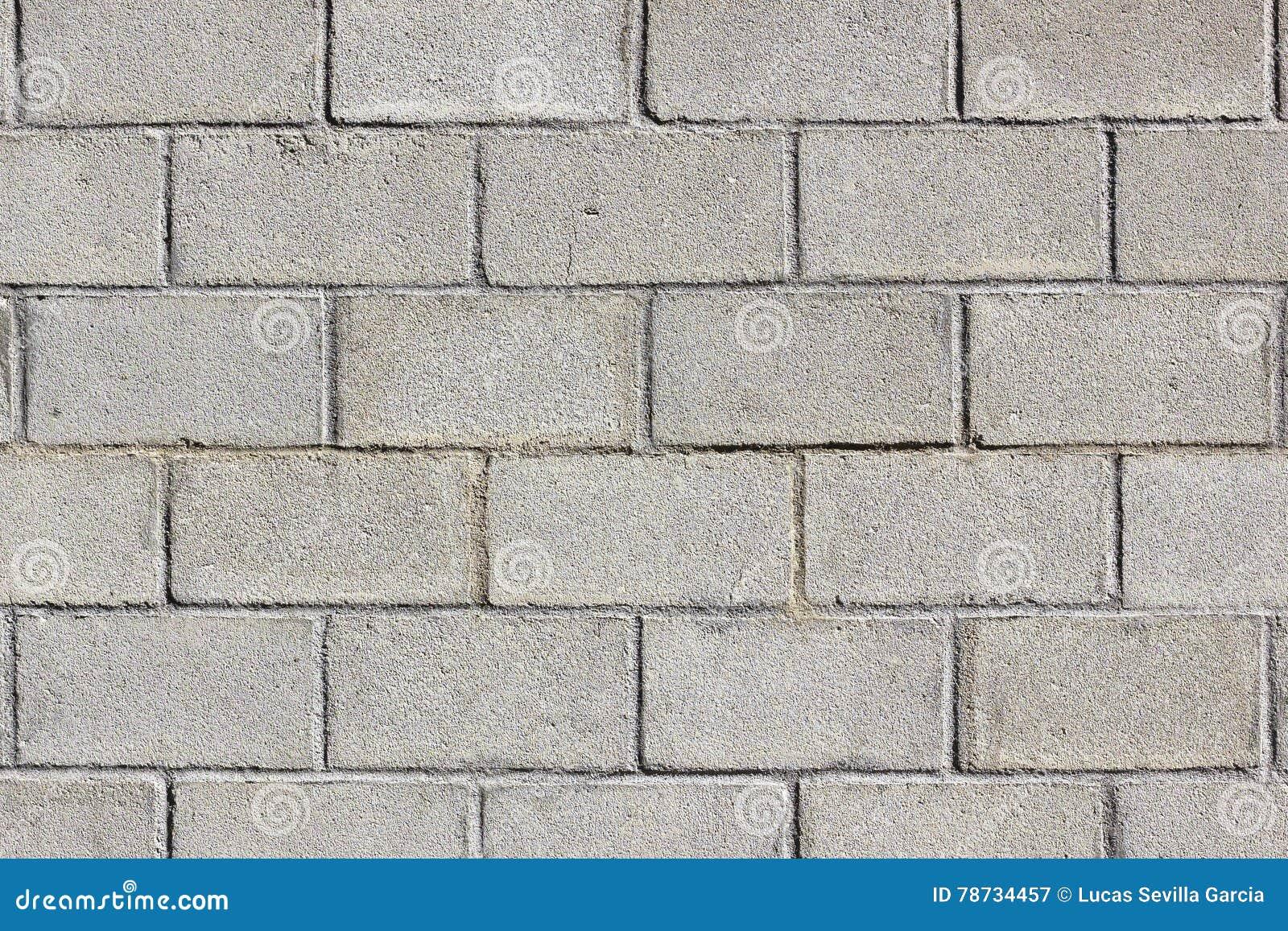 bloque del muro de cemento