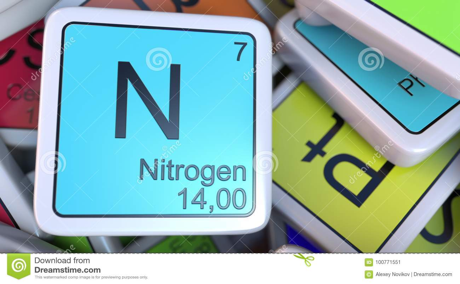 Bloque del nitrgeno en la pila de tabla peridica de los bloques bloque del nitrgeno en la pila de tabla peridica de los bloques de los elementos qumicos representacin relacionada 3d de la q urtaz Images