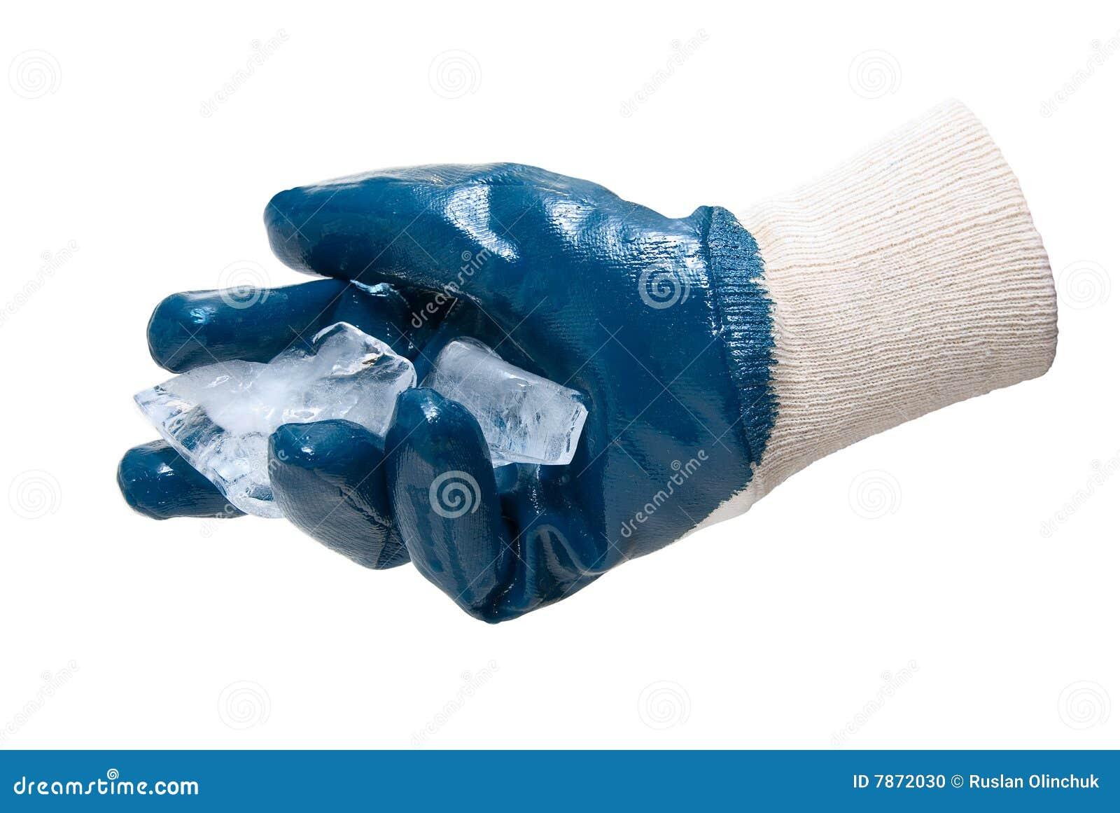 Bloques azules del asimiento del guante del hielo foto de - Guantes de hielo ...