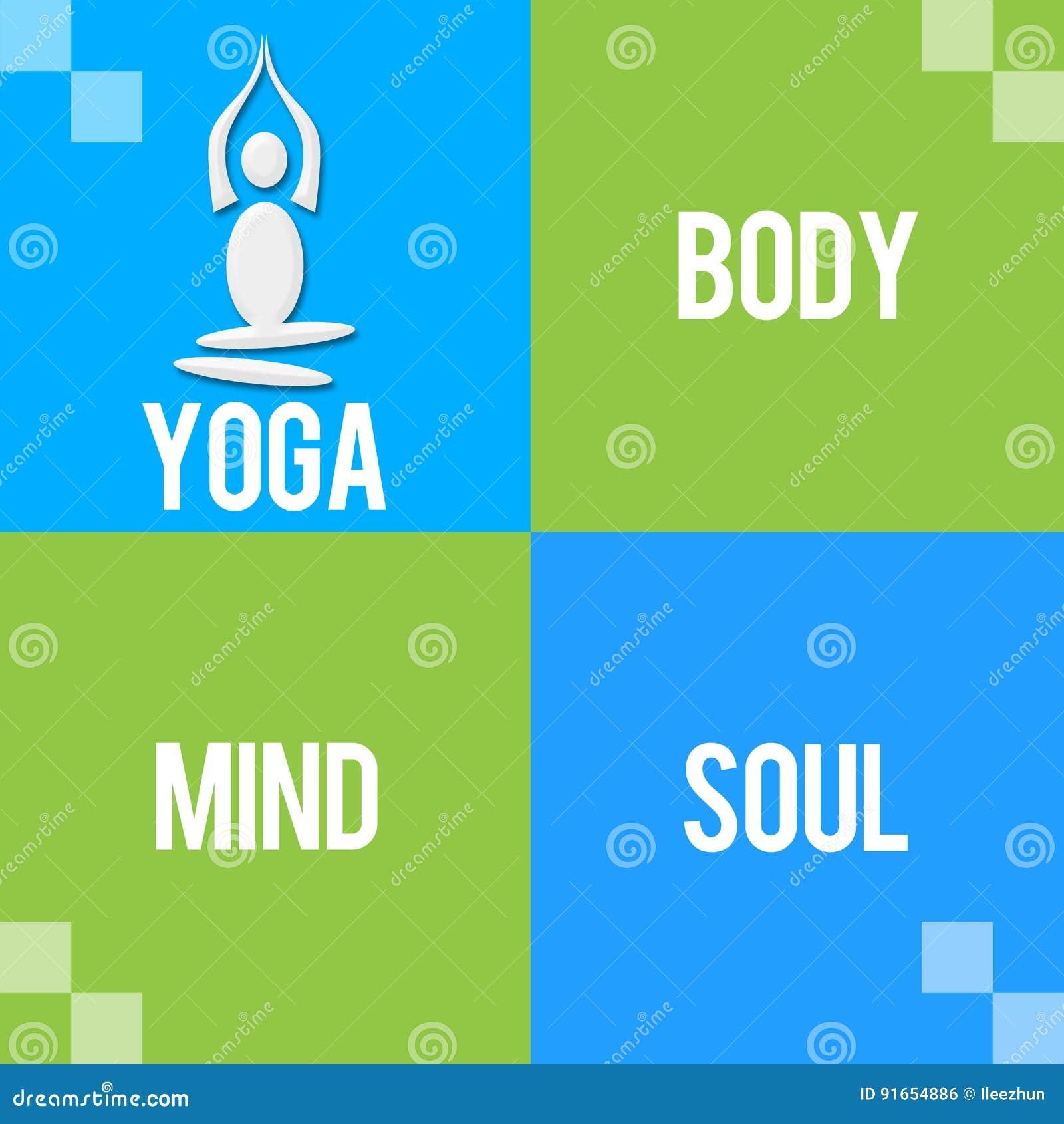 Bloques Azulverdes Del Alma De La Mente Del Cuerpo De La Yoga Cuatro ... acf616736604
