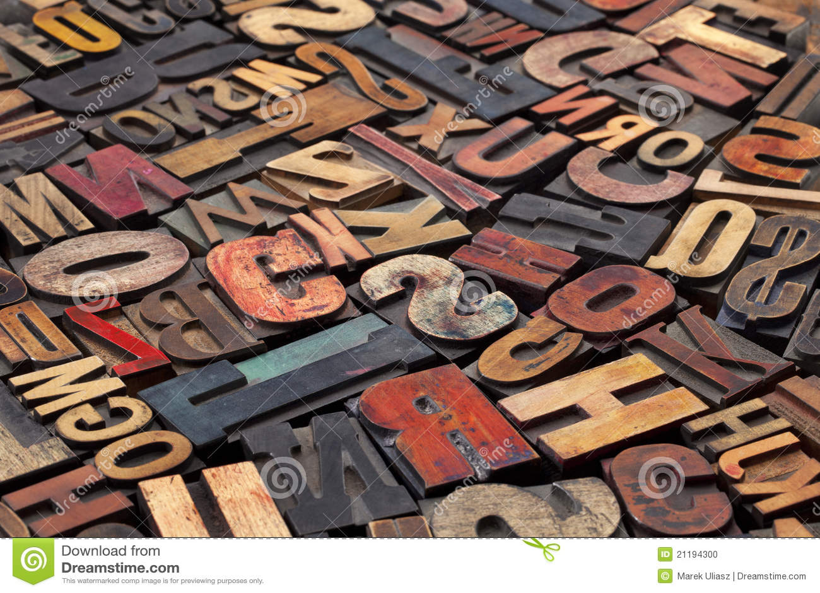 Bloques de impresión antiguos de la prensa de copiar