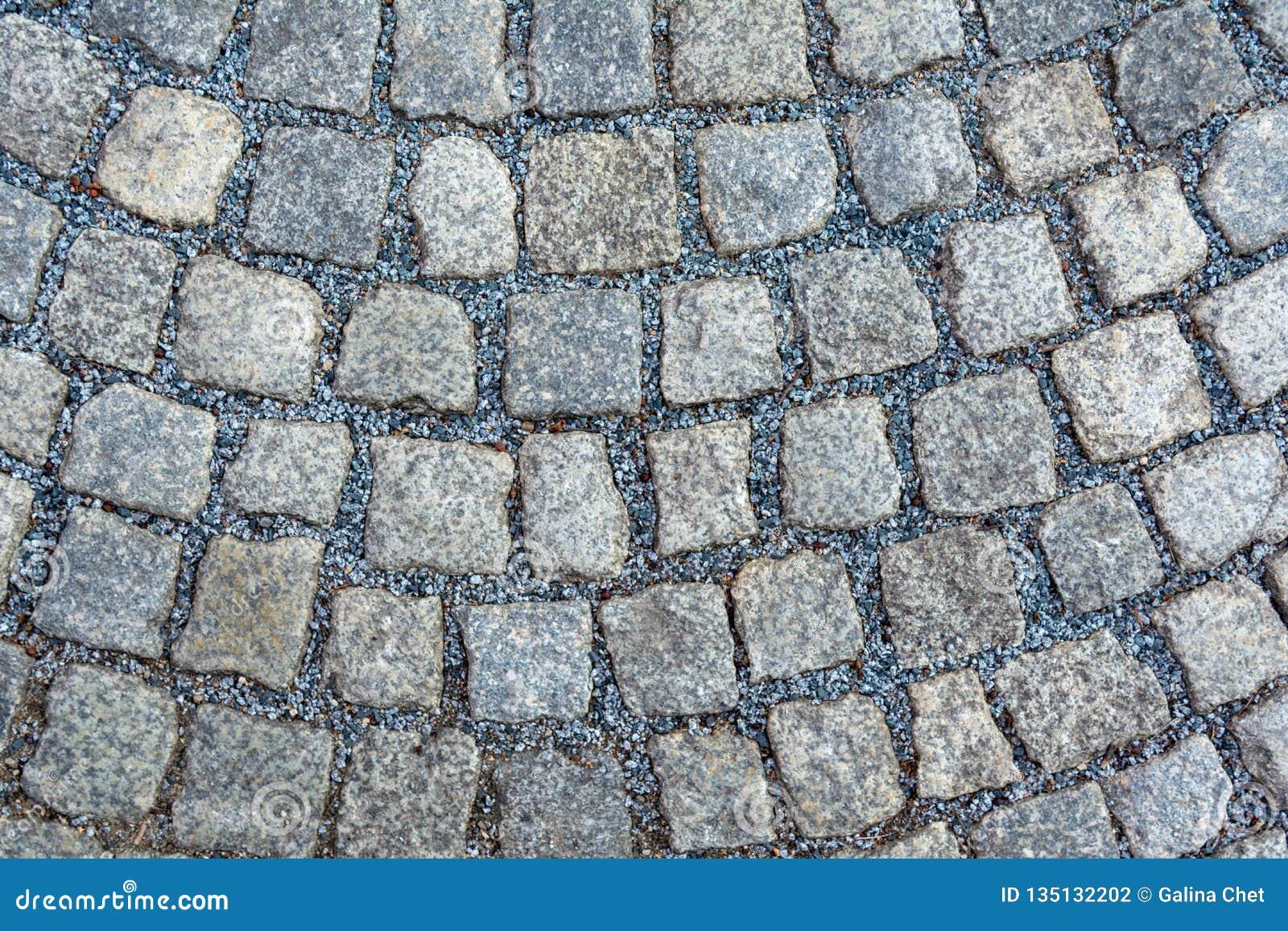 Bloques de piedra de una piedra grande puesta en un círculo
