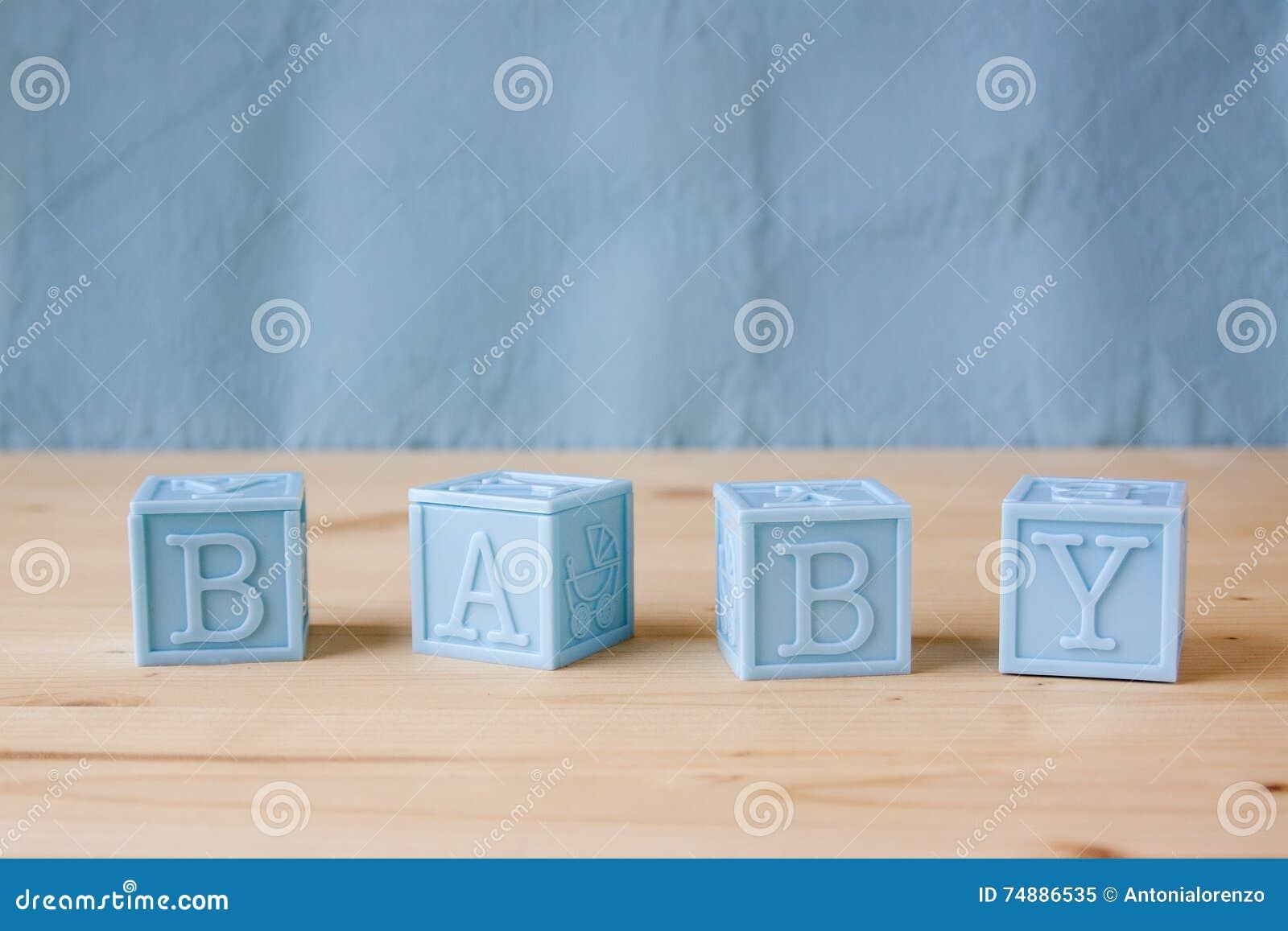 Bloques del bebé azul