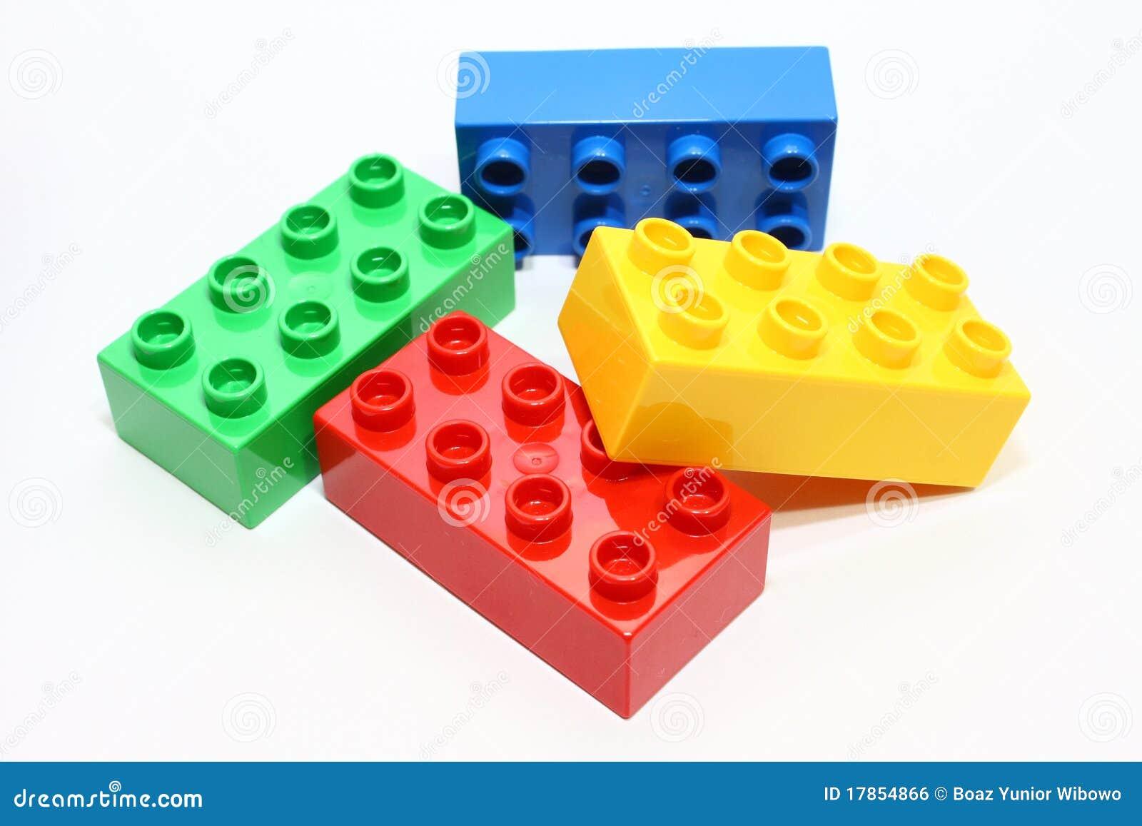 Bloques del lego del color