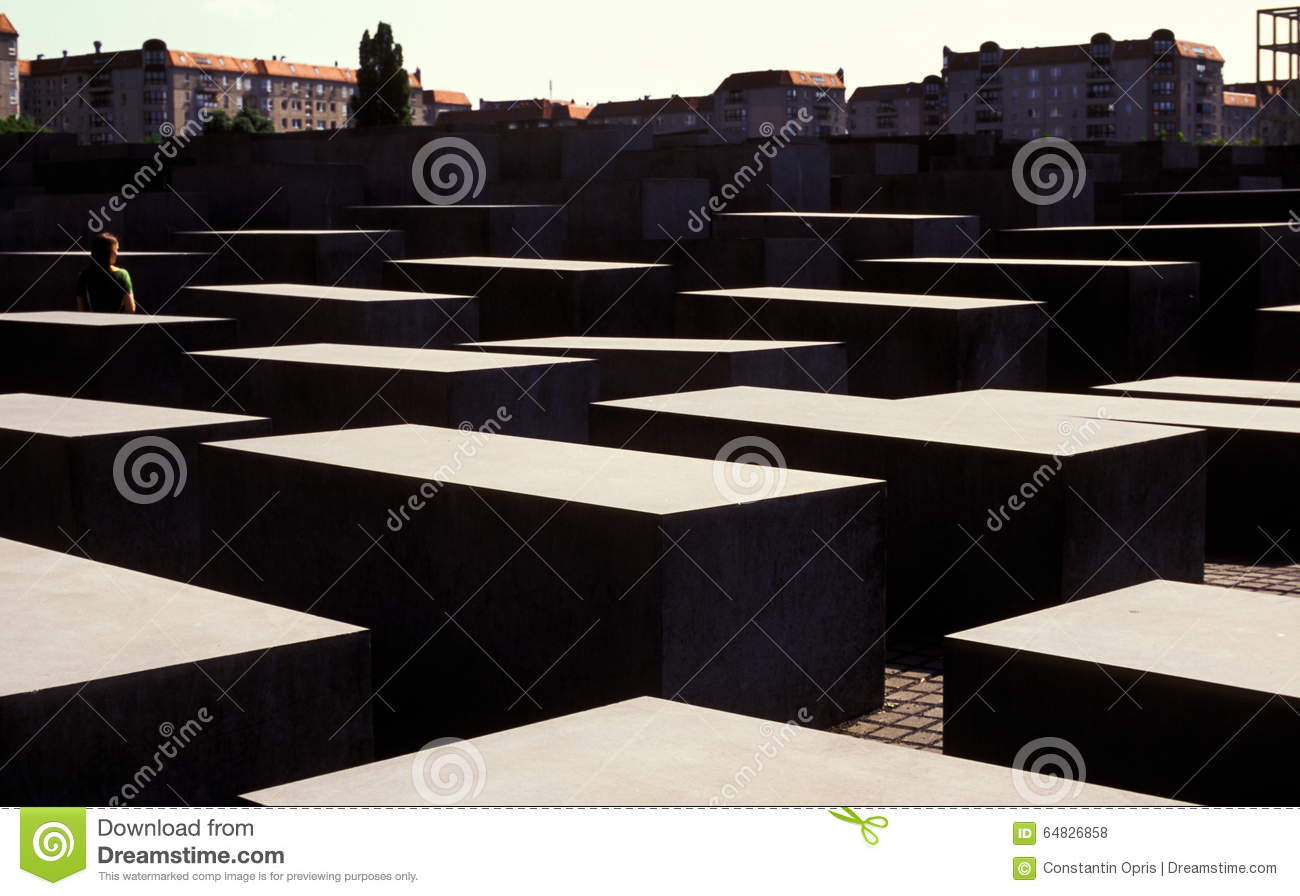 Bloques en Berlin Holocaust Memorial, Alemania
