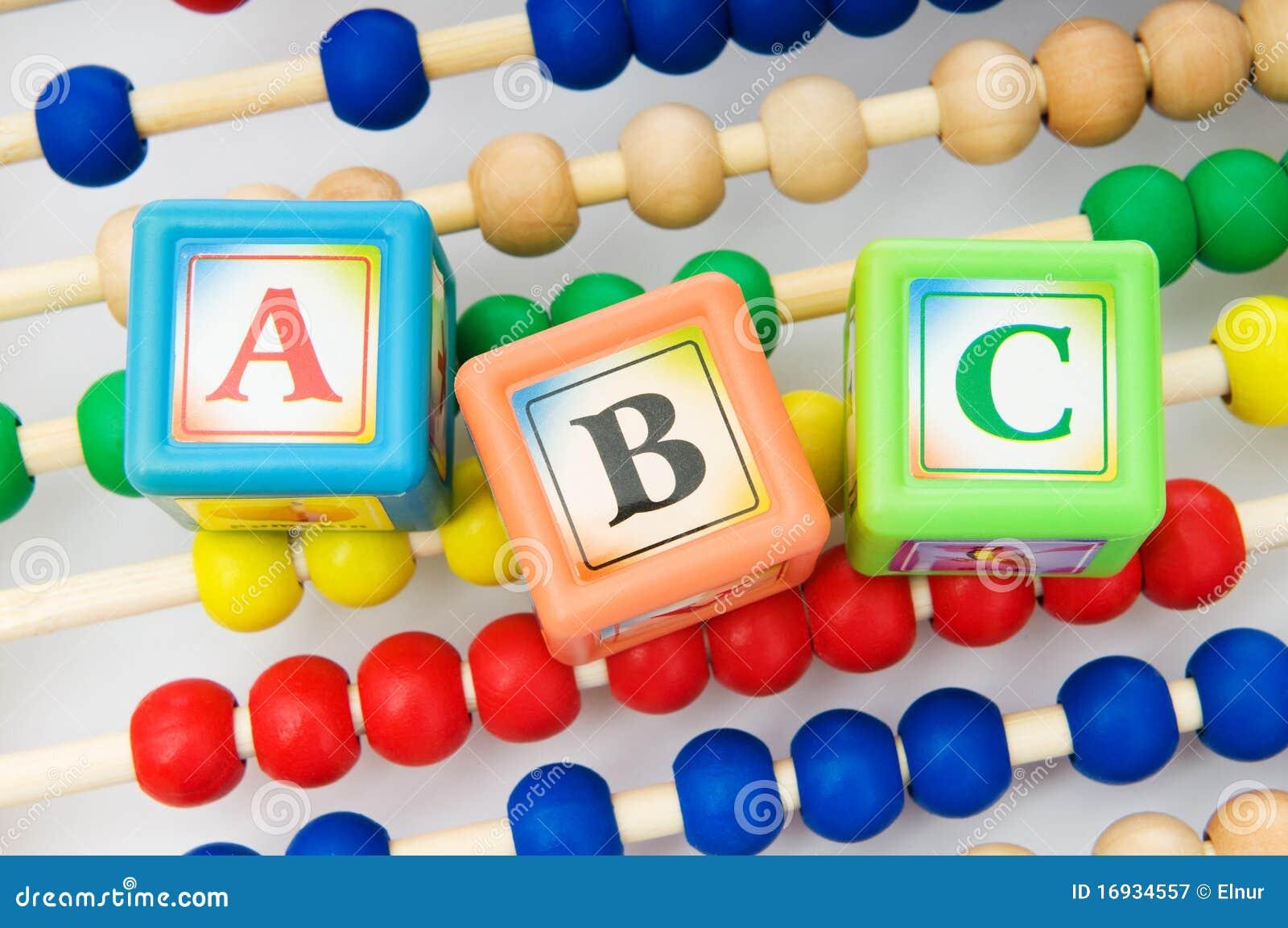 Bloques y ábaco del alfabeto