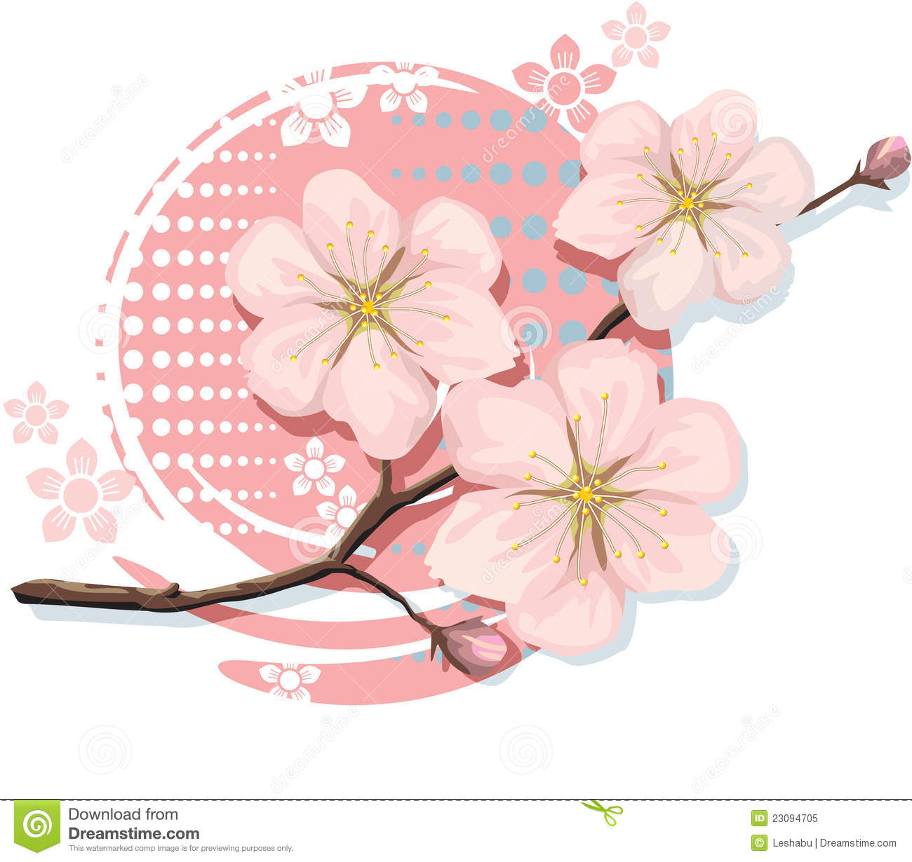 Blossom Cherry Including Vector Format Royalty Free Stock Photo ...