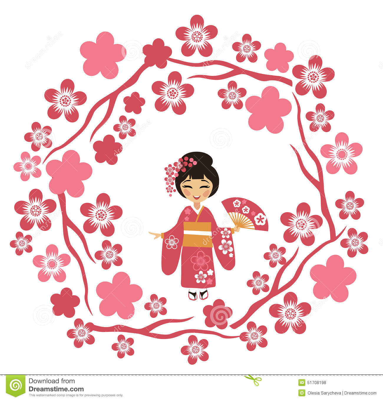 blossom festival and admiring the cherry blossoms in japan stock rh dreamstime com Cherry Blossom Tree Tattoo Stencils Cherry Blossom Tattoo Drawings