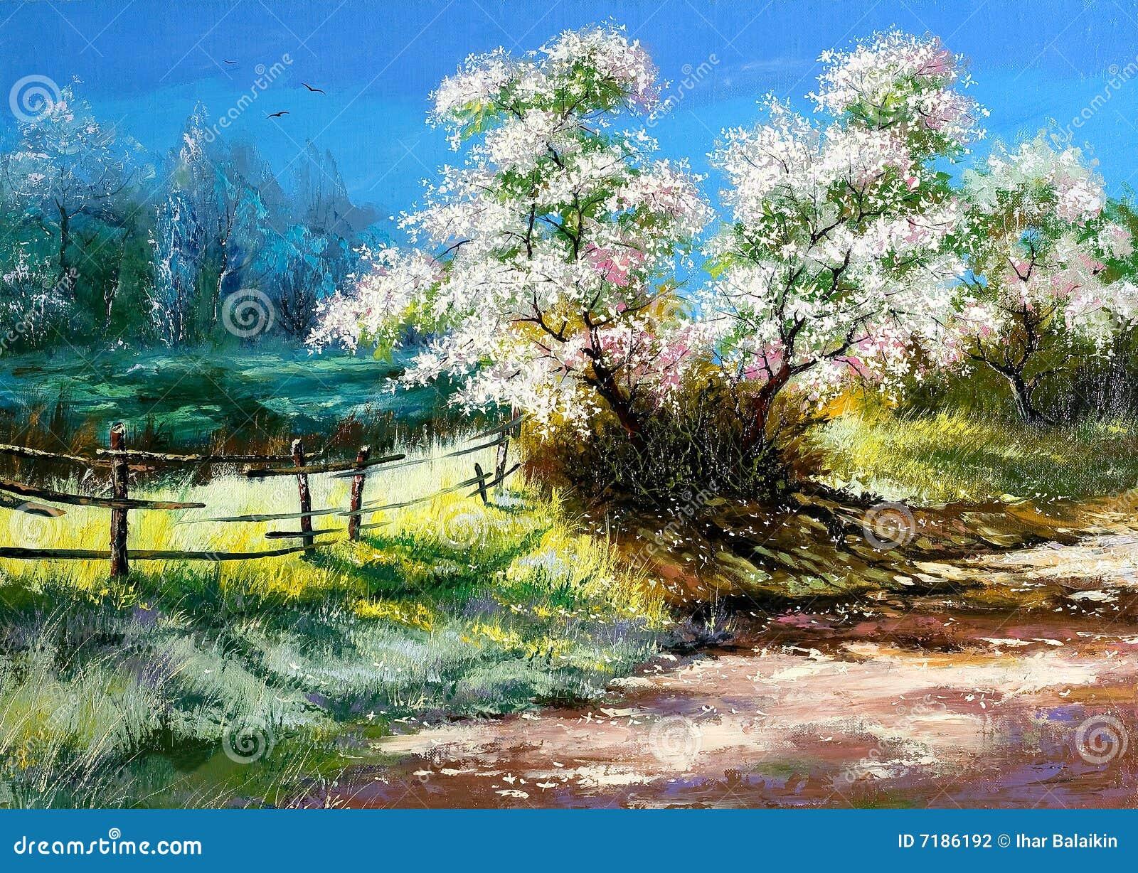 Blossoming bush