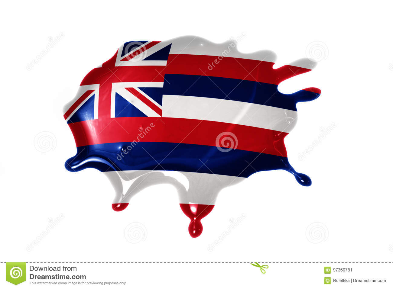 Blot with hawaii state flag