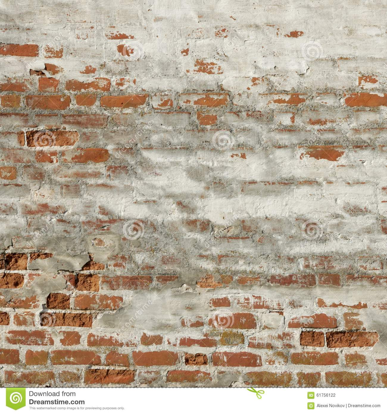Blotch Red White Old Brick Wall Frame Background Texture