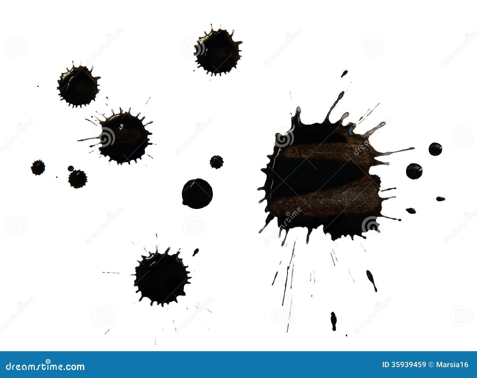 Blots of black ink