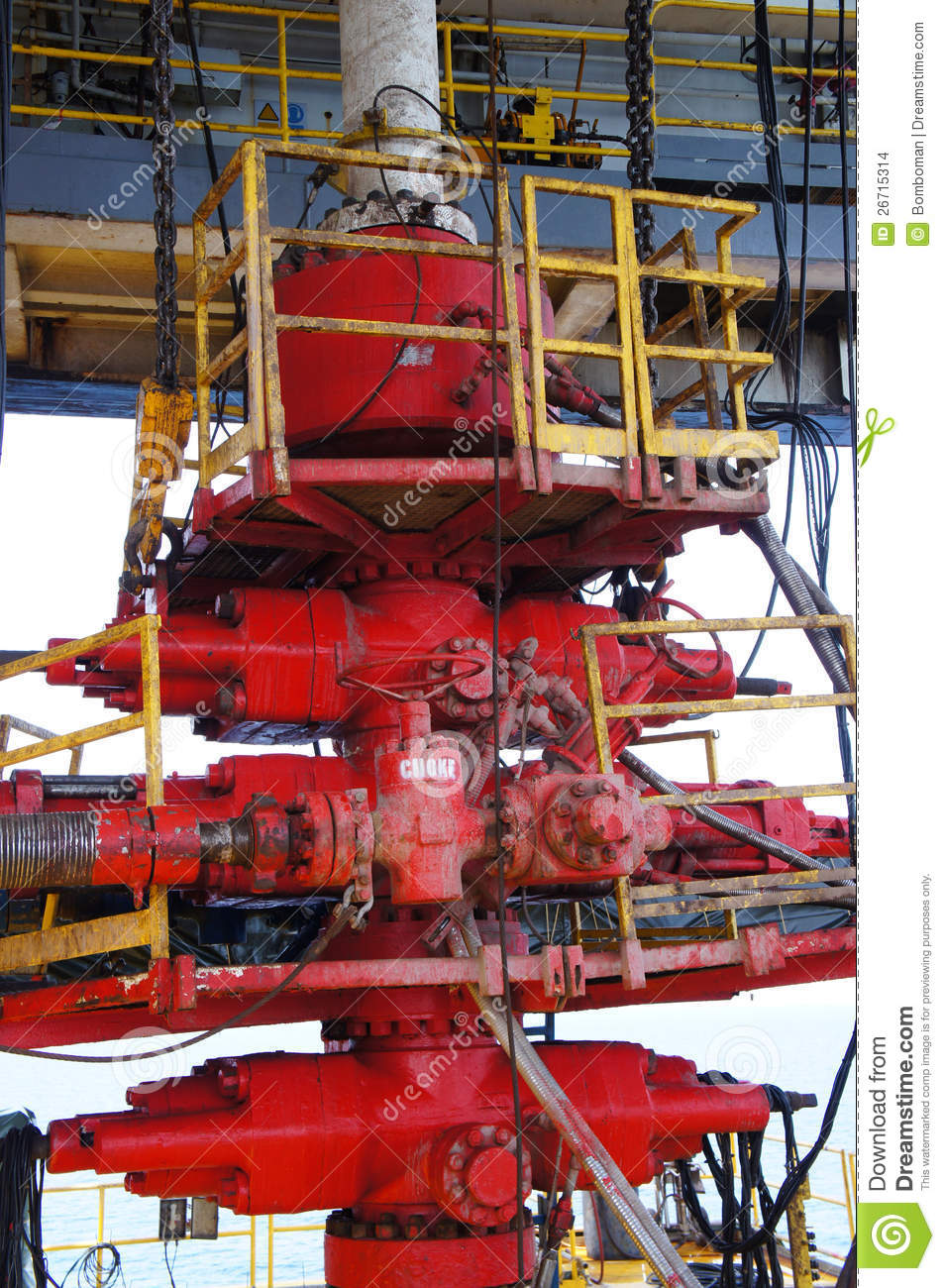 Blow Out Preventer  Bop  For Drilling Oil Rig Stock Photo