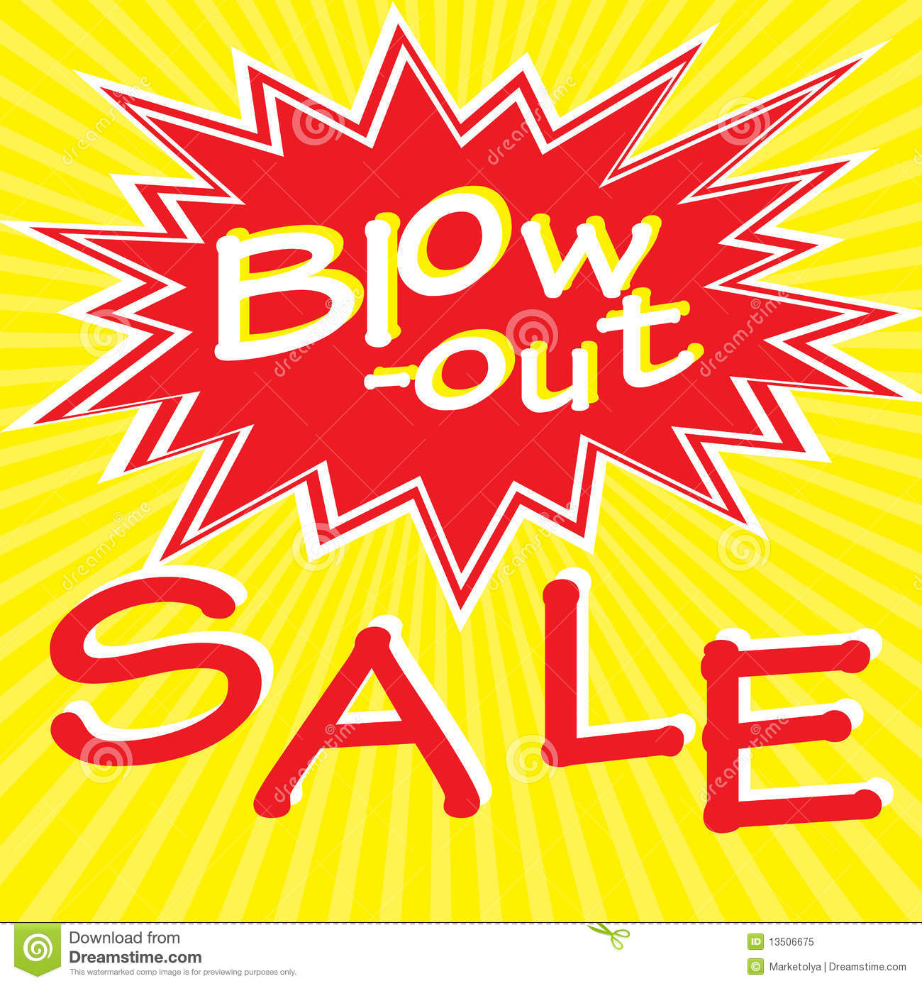 Sale: Blow-out Sale Stock Vector. Illustration Of Adverts