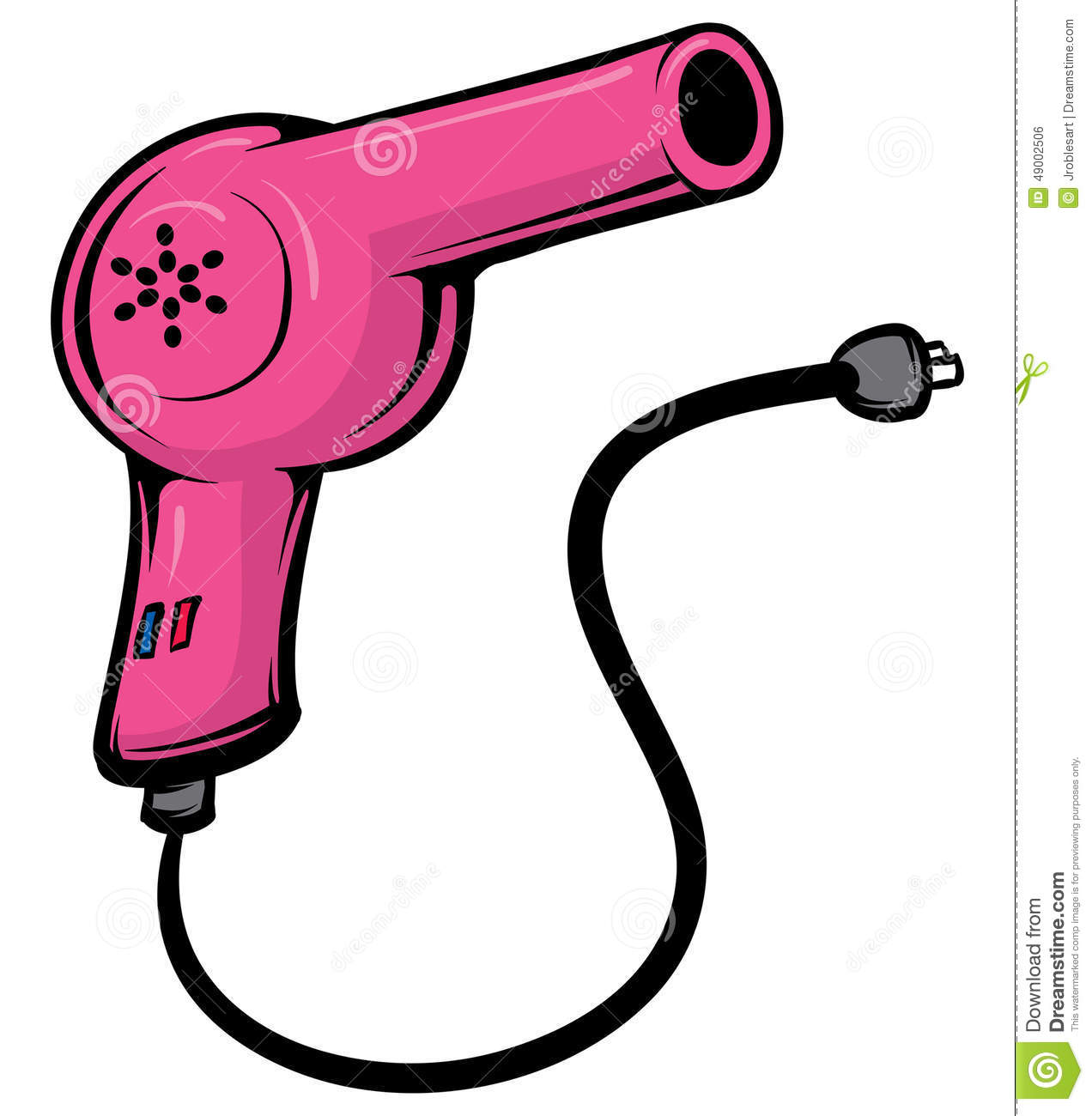 Blowdryer Stock Vector Image 49002506