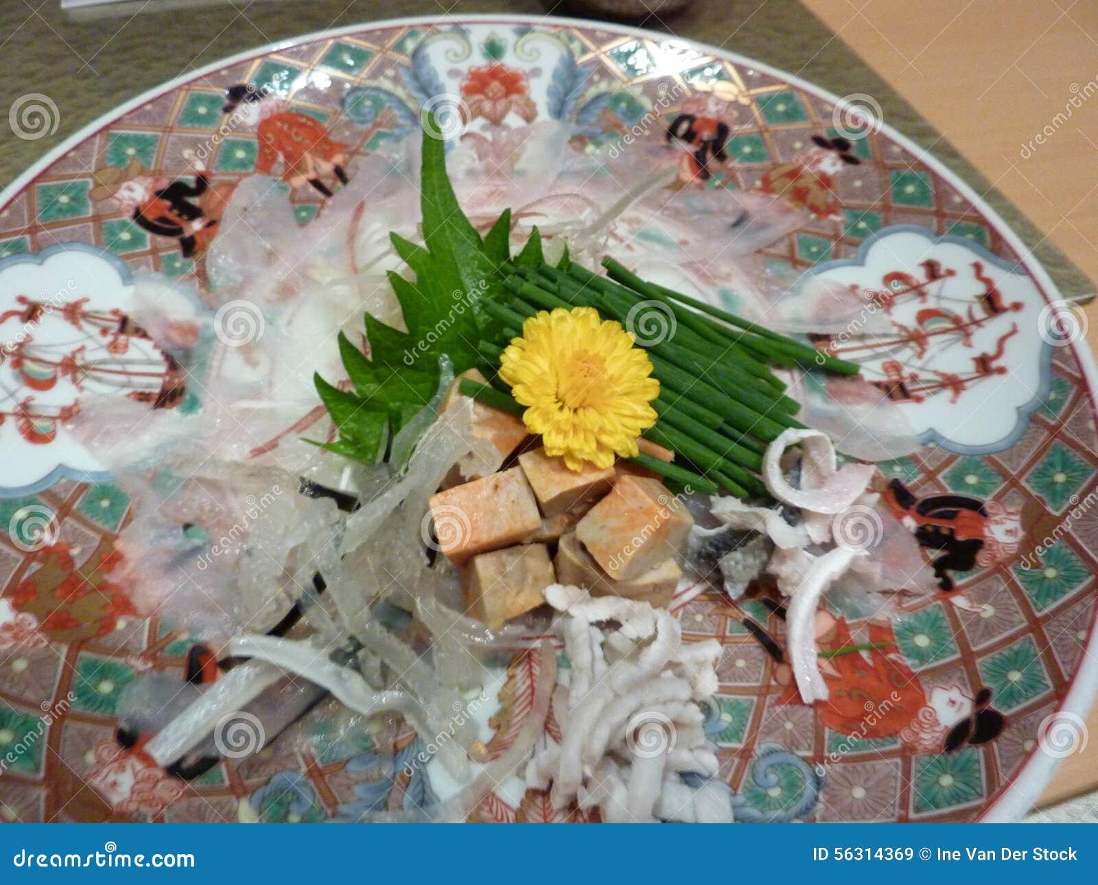 Blowfish de Fugu para la cena en Japón