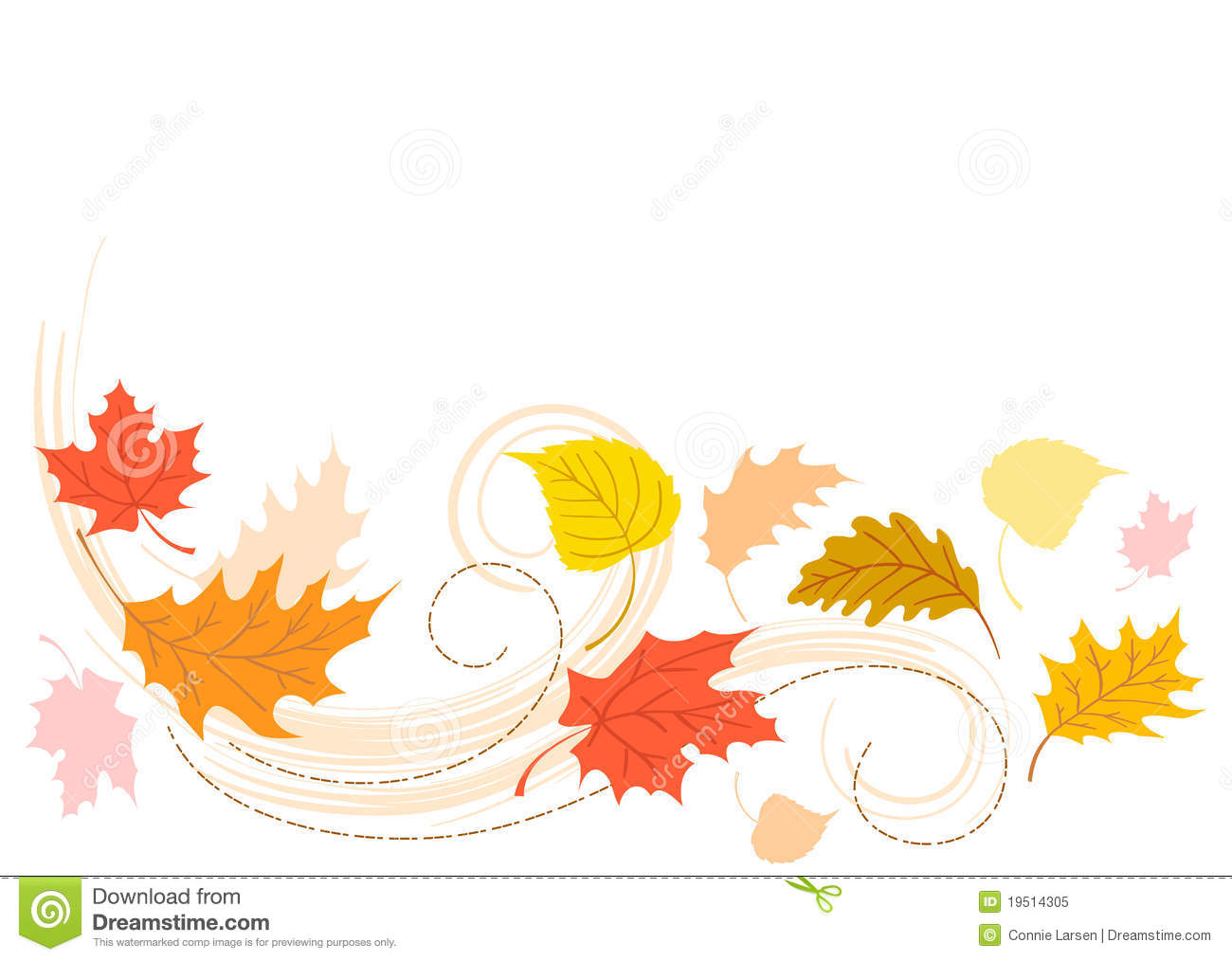 Blowing Autumn Fall Leaves/eps Royalty Free Stock Photo ...