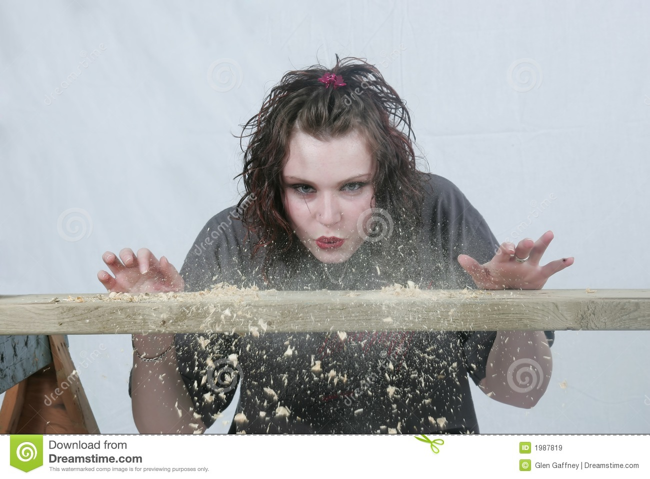Blowing Away The Dust Stock Image Image Of Dust Female