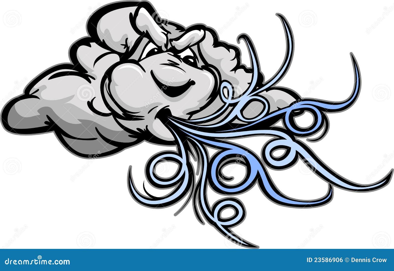 Cartoon Wind Swirls