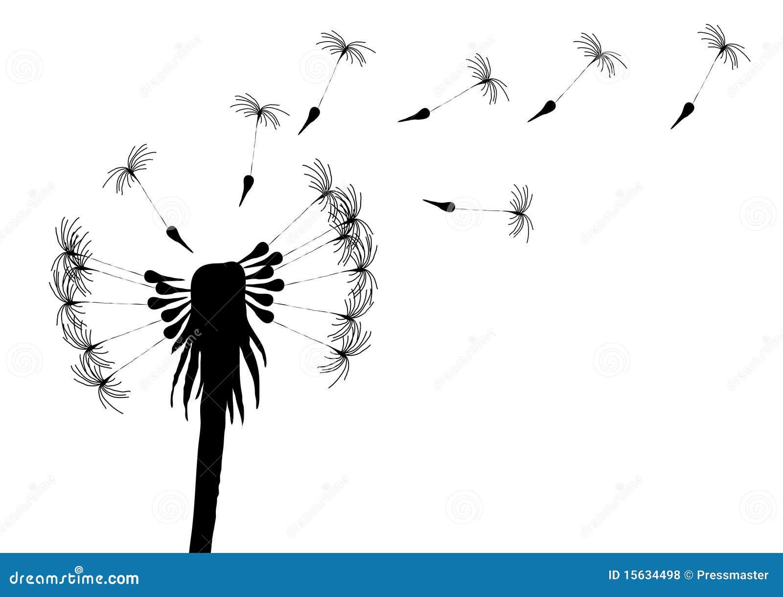 blowing dandelion stock illustration image of nature 15634498. Black Bedroom Furniture Sets. Home Design Ideas