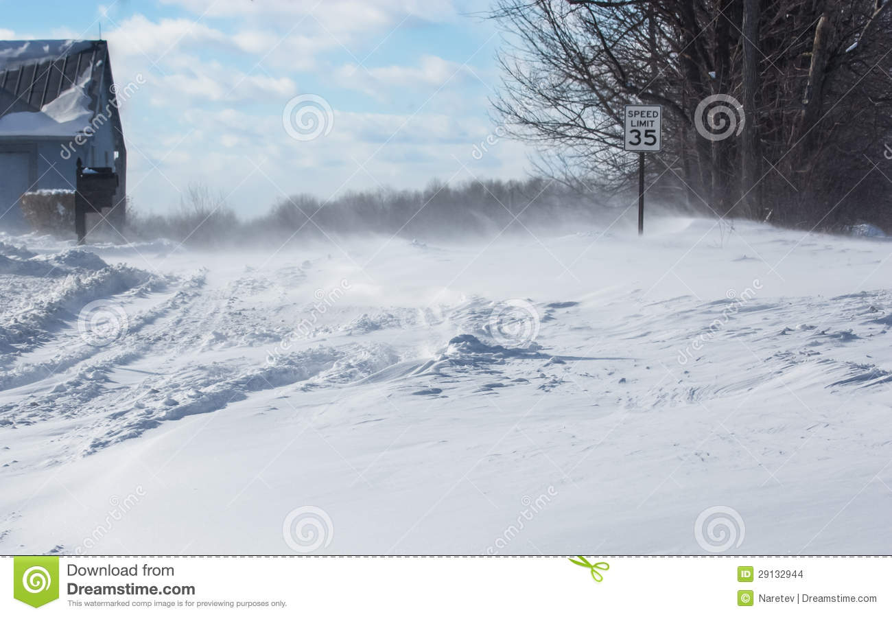 Snow Plow Prices >> Blowing, Drifting Snow Across A Country Road Stock Photo - Image of white, wind: 29132944