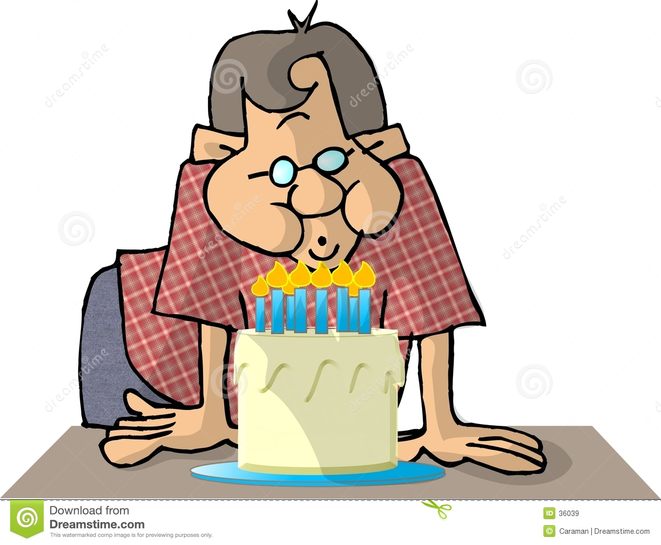 Birthday Cake Clip Art Blow Out
