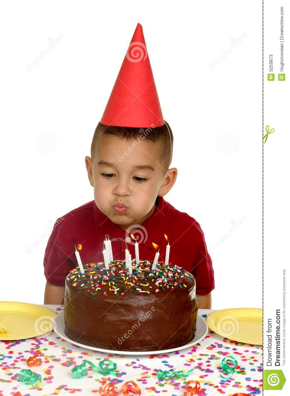 Blowing Out Candles 5 Years Stock Image Image Of