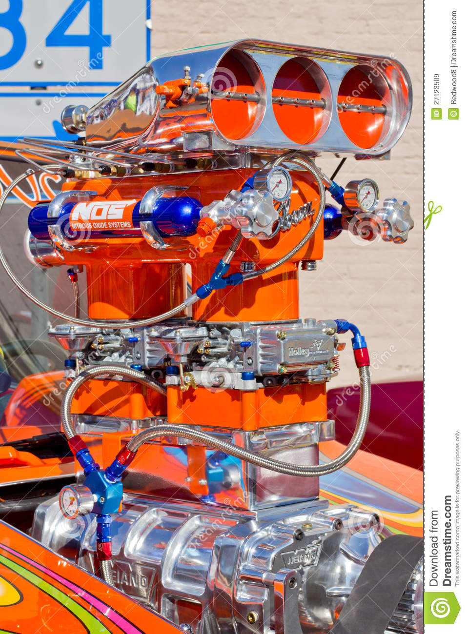 Blown Dragster Engine Editorial Stock Image Image 27123509