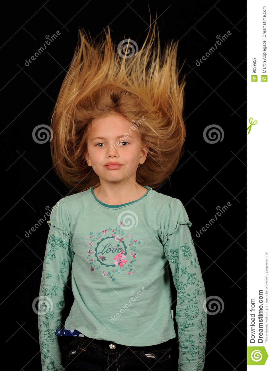 Blown Up Hair Stock Image Image Of Girl Blowing Shock