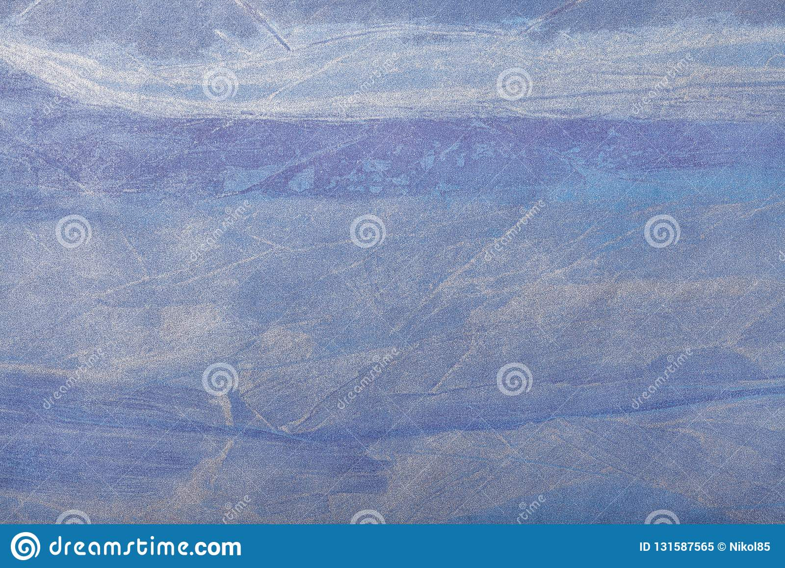 Blu navy del fondo di astrattismo e colore d argento Pittura multicolore sulla tela Frammento di materiale illustrativo contesto