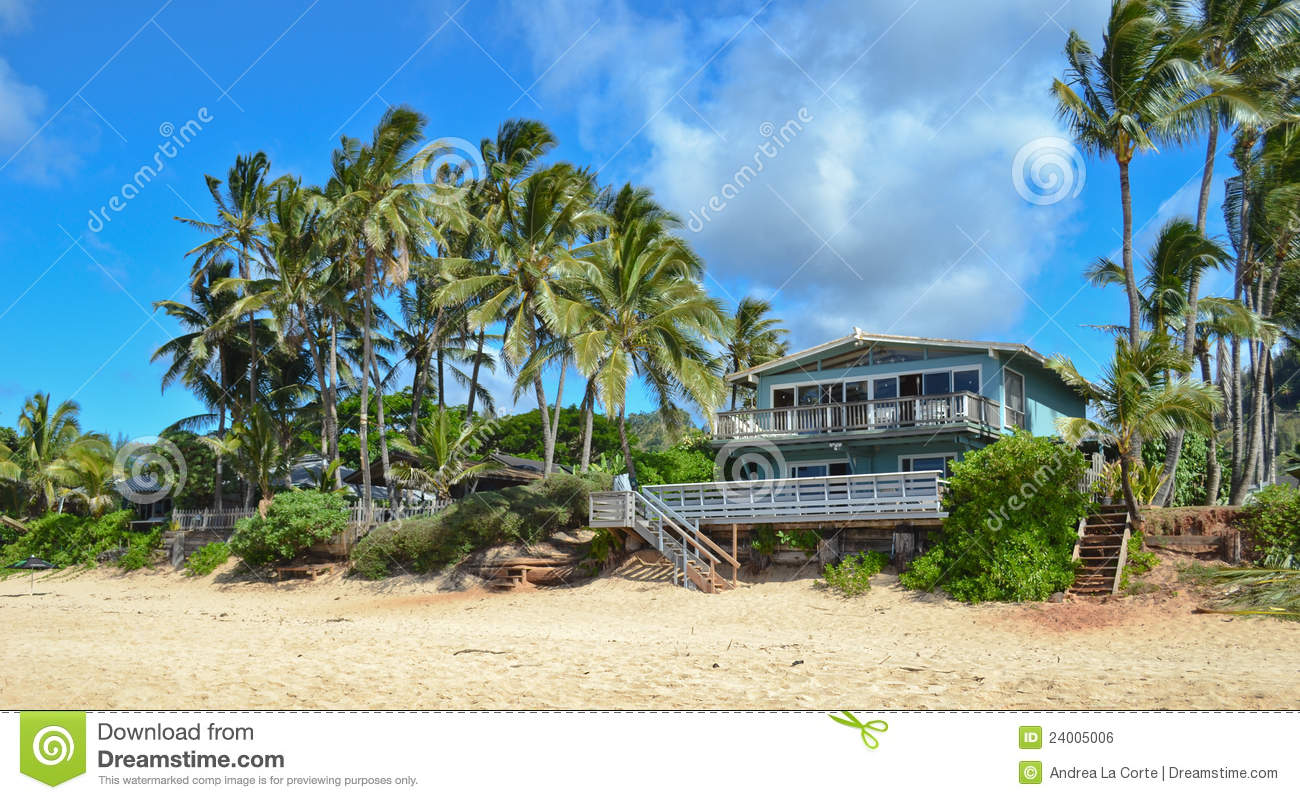 Blu wooden beach house royalty free stock image image for Free house photos