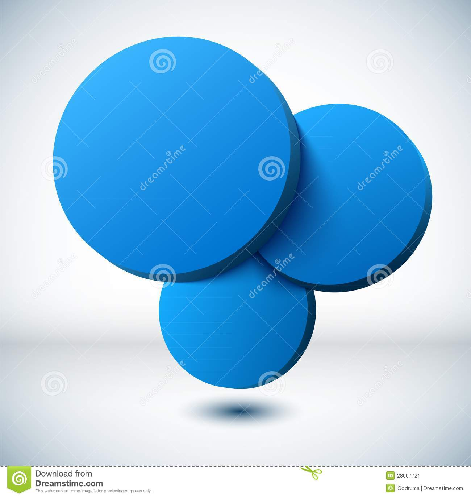 Blue 3D Circle Background. Stock Image