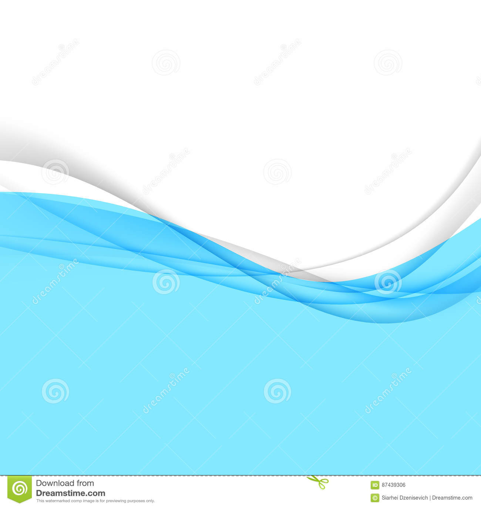 Blue abstract border design template stock vector image