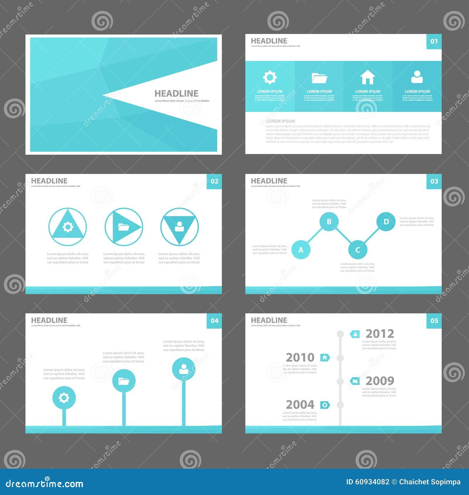 blue abstract brochure report flyer magazine presentation element