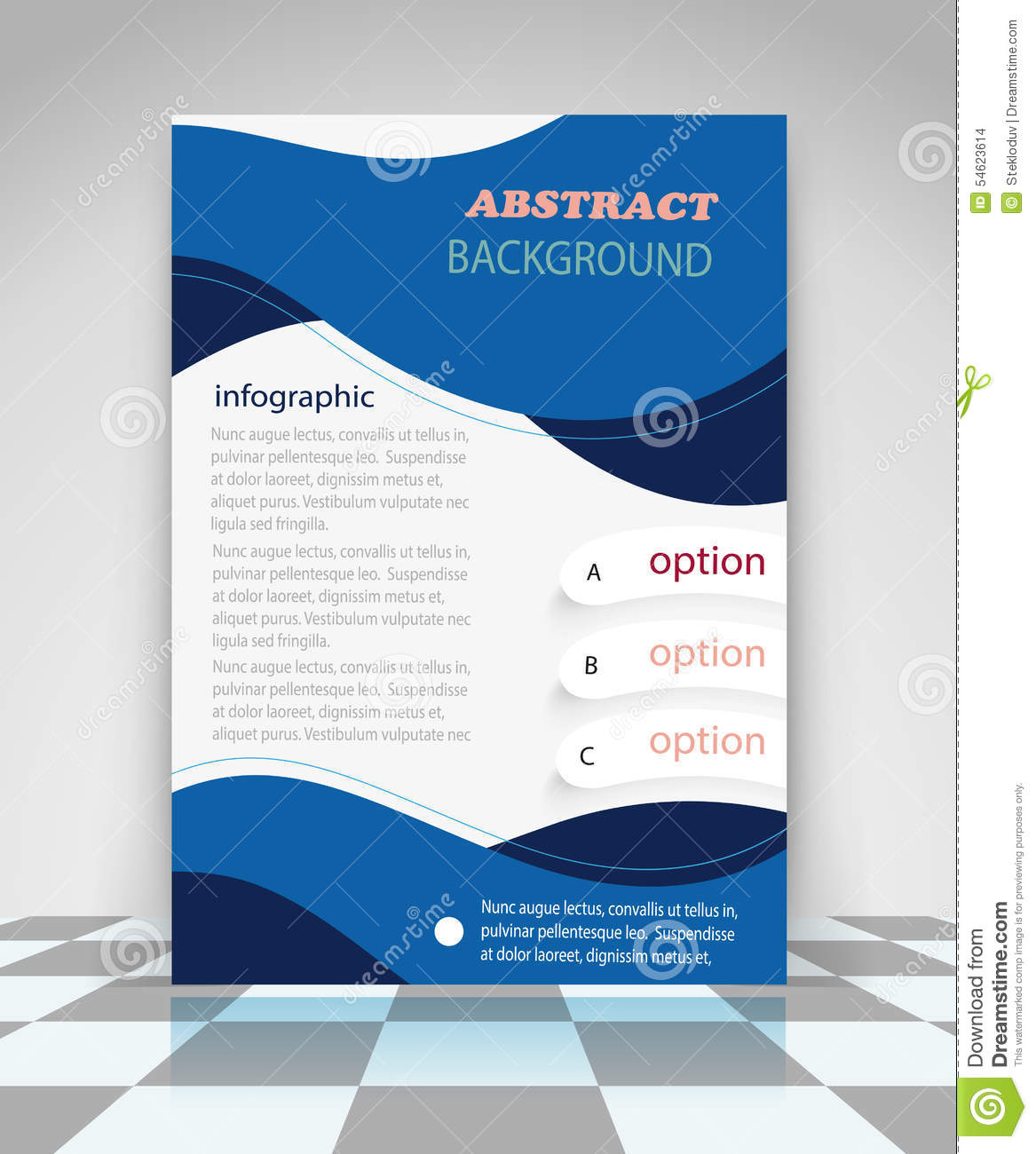 blue abstract business flyer design stock vector