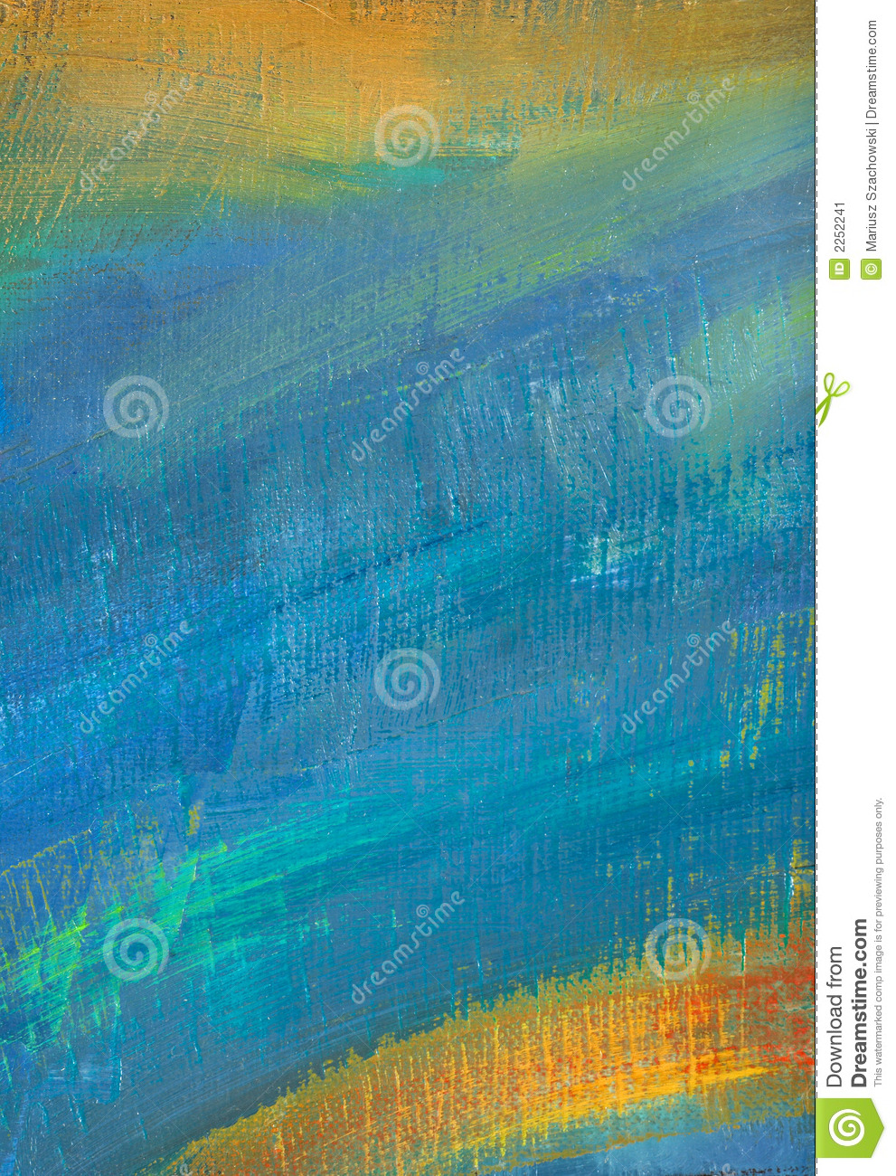 Blue abstract canvas