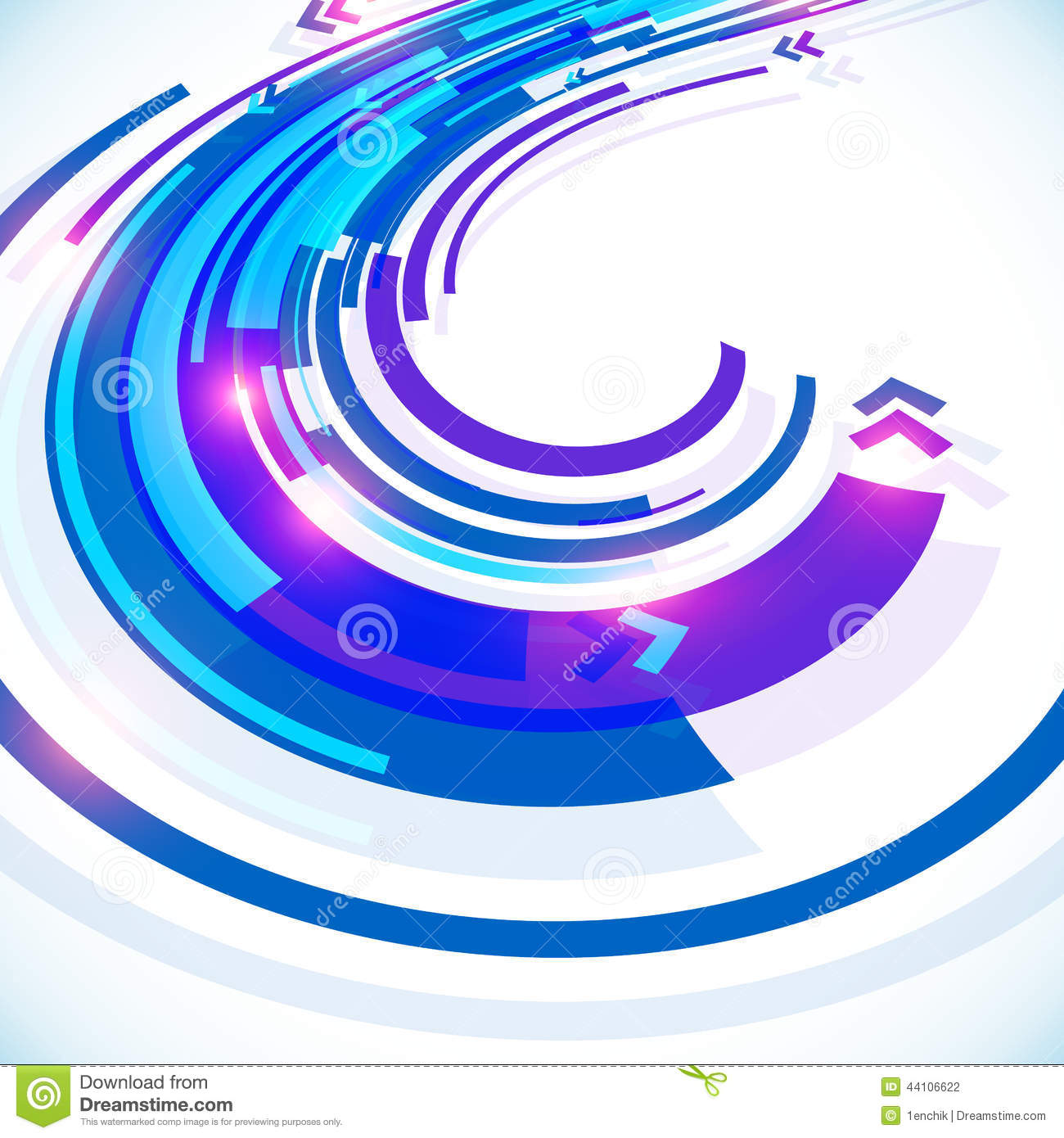 blue abstract futuristic curve vector background stock