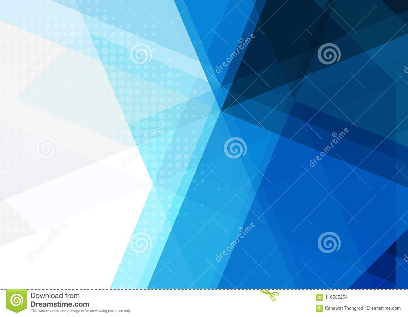 Blue abstract geometric background, Vector illustration