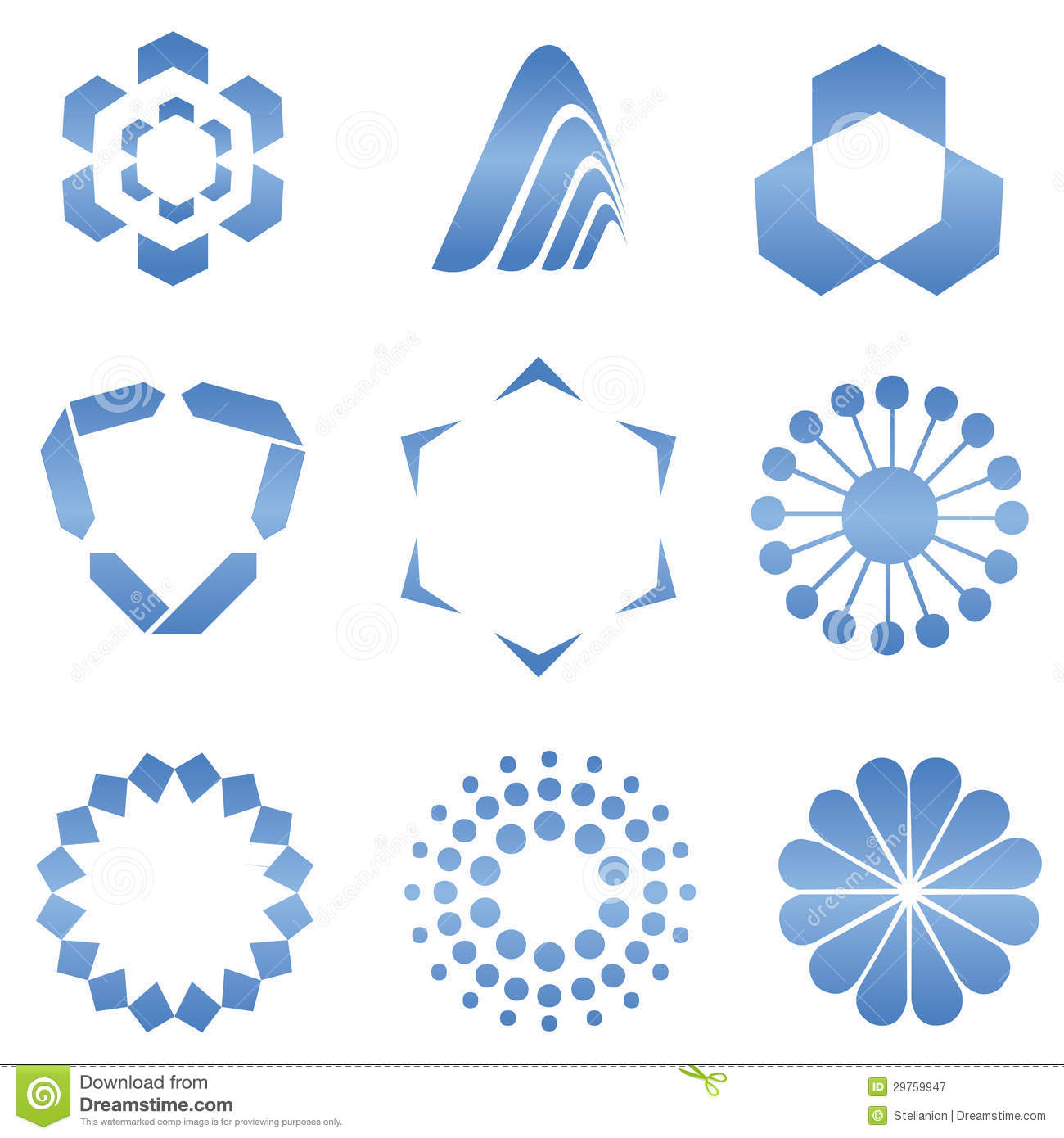 Abstract Logo Shapes stock vector  Illustration of design