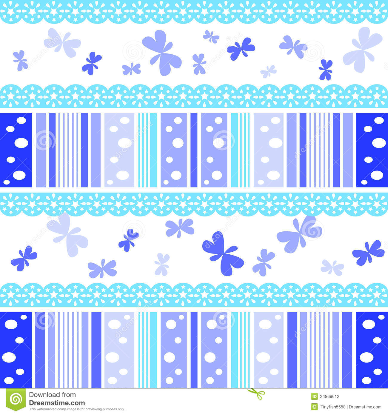 Blue Abstract Stripe Patterns Background