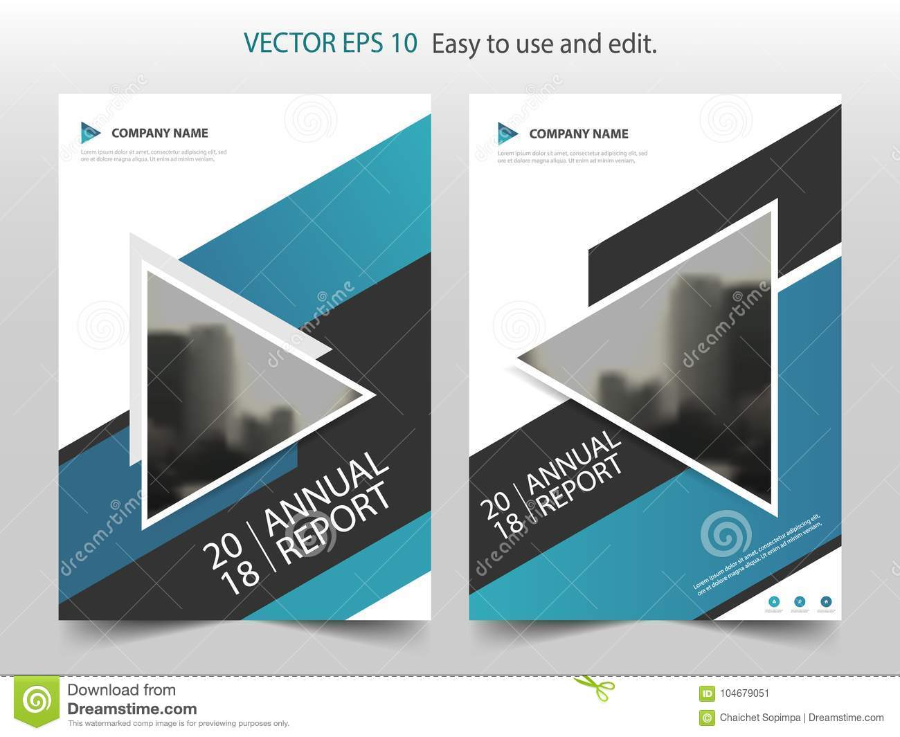 Blue abstract triangle annual report brochure design template vector blue abstract triangle annual report brochure design template vector business flyers infographic magazine poster wajeb Images
