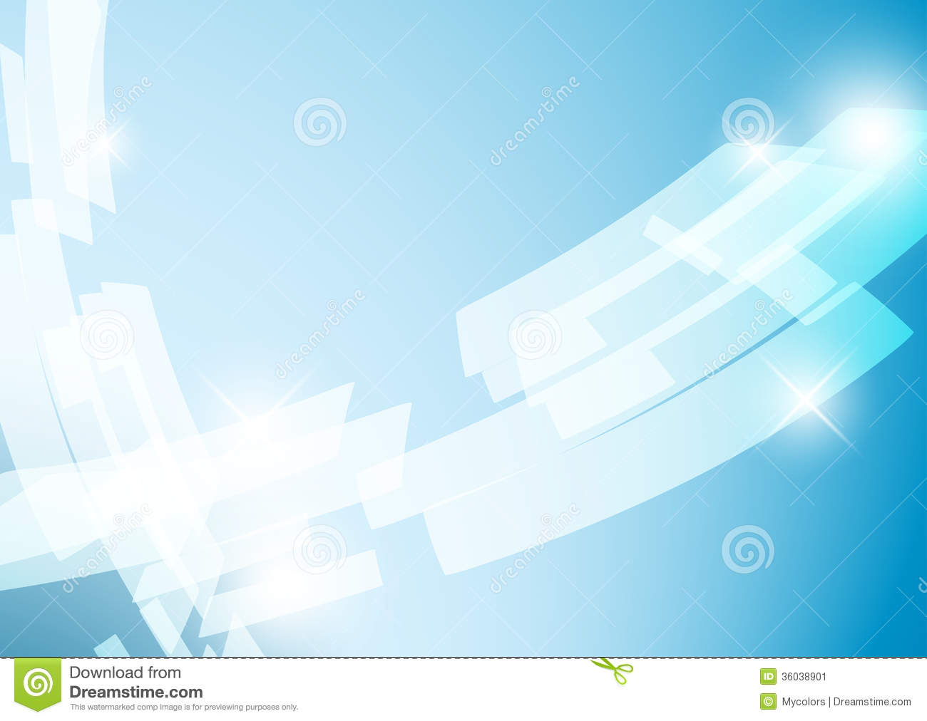 Blue Abstract Vector Background With Shiny Figures Stock ...