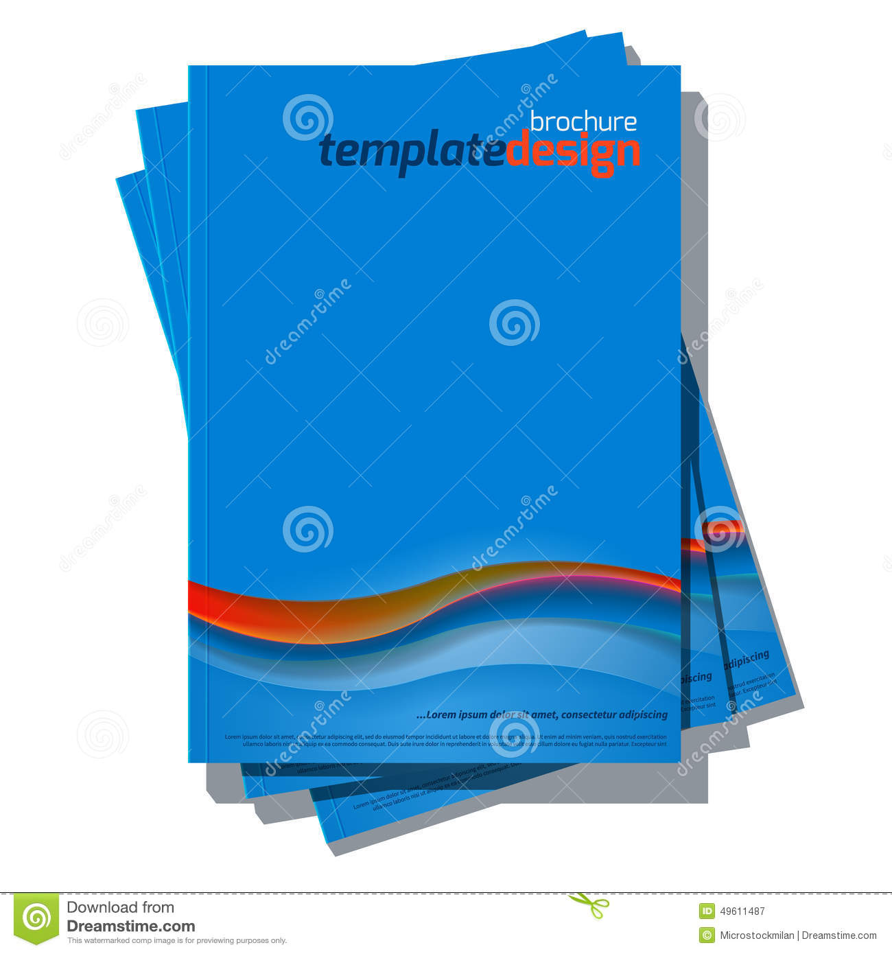 Book Cover Illustration Contract ~ Blue abstract vector cover design template stock