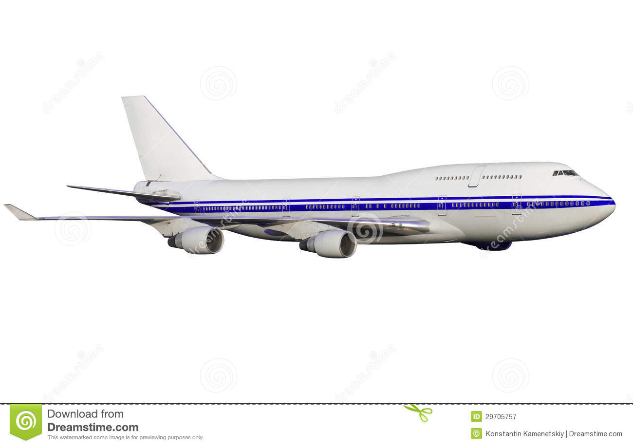 Airplane Isolated On White Background. Stock Image - Image ...