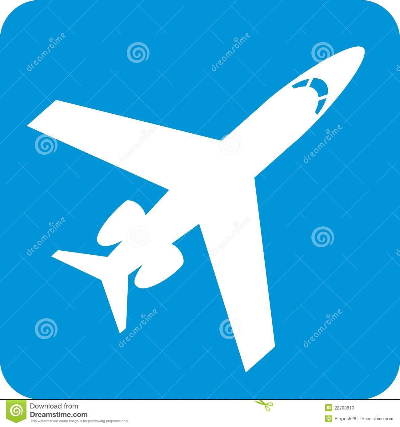 blue airplane symbol stock photo image 22708810