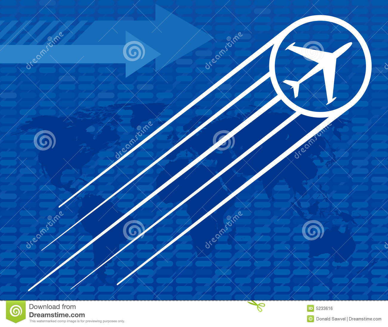 Blue Airplane Travel Background Royalty Free Stock Image