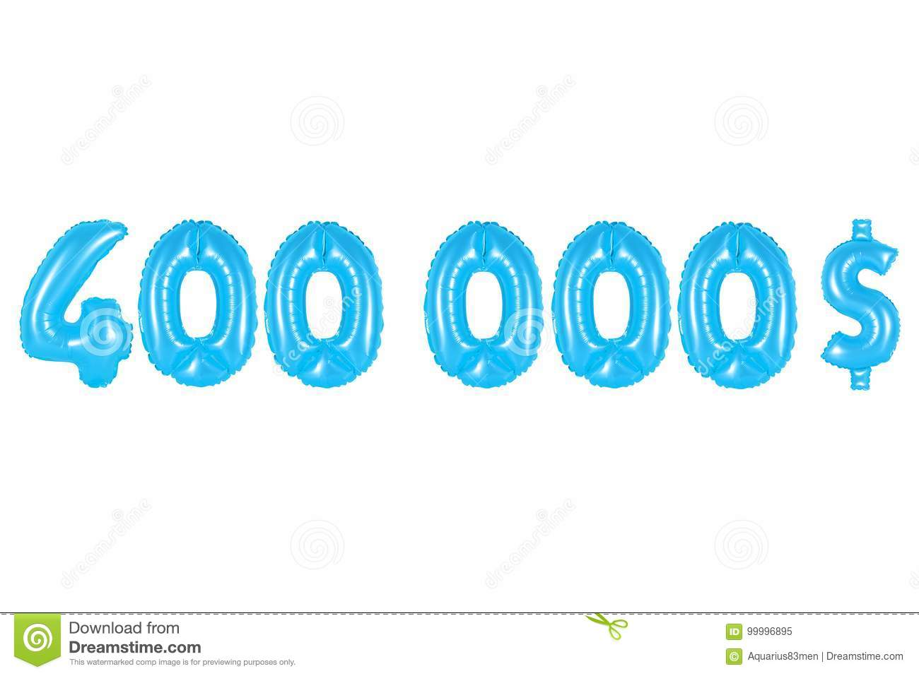 Four Hundred Thousand Dollars, Blue Color Stock Image - Image of ...